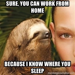 The Rape Sloth - Sure, you can work from home Because I know where you sleep