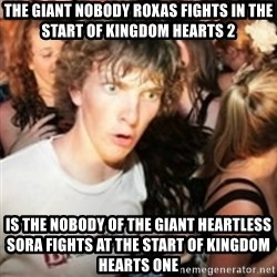 sudden realization guy - The giant nobody Roxas fights in the start of kingdom hearts 2 Is the nobody of the giant heartless  sora fights at the start of kingdom hearts one