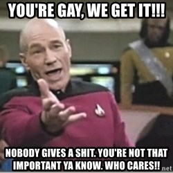 star trek wtf - you're gay, we get it!!! nobody gives a shit. you're not that important ya know. WHO CARES!!