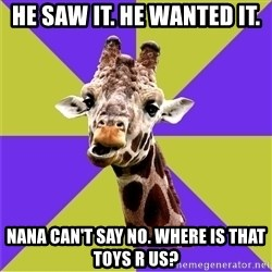 Photoshop Artist Giraffe - He saw it. He wAnted it. Nana can't say No. Where is that toys r us?