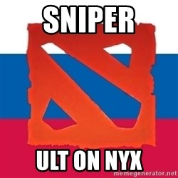 Dota2 Russian - Sniper ult on nyx