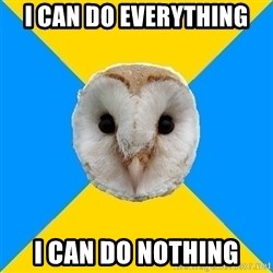 Bipolar Owl - I can do everything I can do nothing