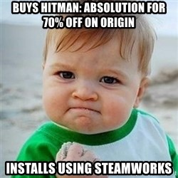 Victory Baby - Buys Hitman: absolution for 70% off on Origin installs using steamworks