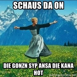 Look at all the things - schaus da on die gonzn syp ansa die kana hot