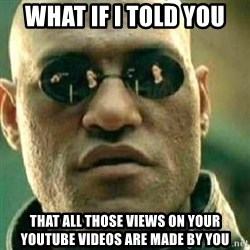 What If I Told You - What If I Told You that all those views on your youtube videos are made by you