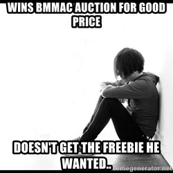 First World Problems - wins bmmac auction for good price doesn't get the freebie he wanted..