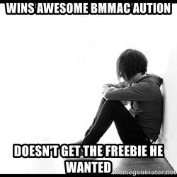 First World Problems - wins awesome bmmac aution doesn't get the freebie he wanted