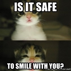 Adorable Kitten - Is it safe to smile with you?