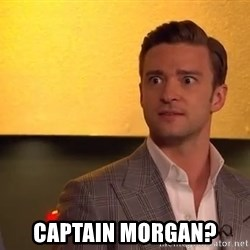 Drunk Justin Timberlake -  Captain Morgan?