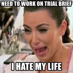 Kim Kardashian Crying - need to work on trial brief i hate my life