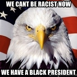 American Pride Eagle - We cant be racist now We have a bLack president