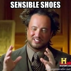 Ancient Aliens - sensible shoes