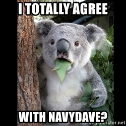 Koala can't believe it - i totally agree with navydave?