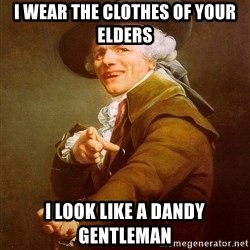Joseph Ducreux - I wear the clothes of your elders I look like a dandy gentleman