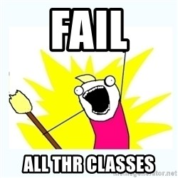 All the things - Fail All Thr classes