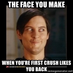 Tobey_Maguire - THE FACE YOU MAKE WHEN YOU'RE FIRST CRUSH LIKES YOU BACK