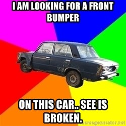 AdviceCar - I am looking for a front bumper  on this car.. see is broken.
