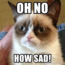 Grumpy Cat  - oh no how sad!