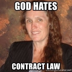Westboro Baptist Church Lady - God HATES CONTRACT LAW