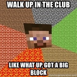 Minecraft Guy - walk up in the club like what up, got a big block