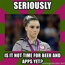 Kayla Maroney - Seriously is it not time for beer and apps yet?