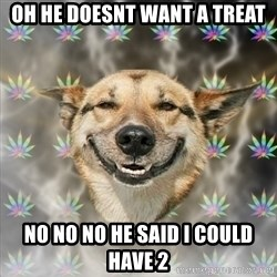 Stoner Dog - oh he doesnt want a treat no no no he said i could have 2