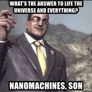 Nanomachines, son - What's the answer to life the universe and everything? Nanomachines, son