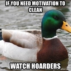 Actual Advice Mallard 1 - if you need motivation to clean watch hoarders
