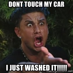 Pauly D Yelling - Dont touch my car i just washed it!!!!!