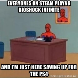 Spiderman Desk - Everyones on steam playng bioshock infinite and i'm just here saving up for the ps4