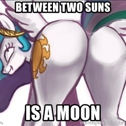 Princess Molestia Flank - between two suns is a moon