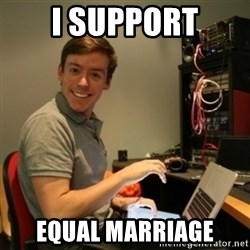 Ridiculously Photogenic Journalist - I support equal marriage