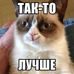 Grumpy Cat Happy Version - Так-то Лучше