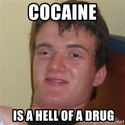 Really Stoned Guy - cocaine  is a hell of a drug