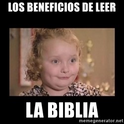 Honey BooBoo - los beneficios de leer la biblia