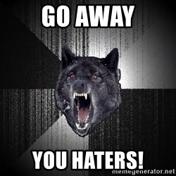 Insanity Wolf - go away you haters!