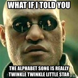 What If I Told You - what if i told you the alphabet song is really twinkle twinkle little star