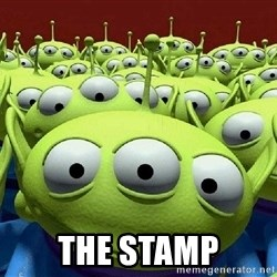 Toy Story Aliens Claw  -  The stamp