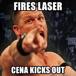 John Cena Smack Down - Fires laser cena kicks out