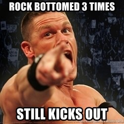 John Cena Smack Down - ROCK BOTTOMED 3 TIMES STILL KICKS OUT