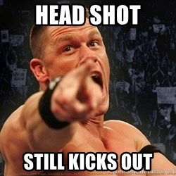 John Cena Smack Down - Head shot Still Kicks out