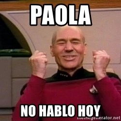 Jean Luc Picard Full of Win - No Text - paola  no hablo hoy