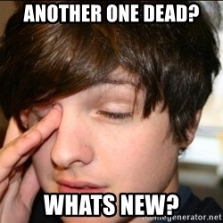 Sleepy Sam Webb - another one dead? Whats new?