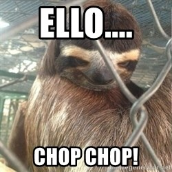 Creepy Sloth Rape - EllO.... Chop chop!