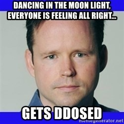 krebsonsecurity - dancing in the moon light, everyone is feeling all right... gets ddosed