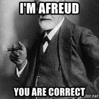 freud - i'm afreud you are correct