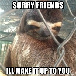 Creepy Sloth Rape - SORRY FRIENDS ILL MAKE IT UP TO YOU