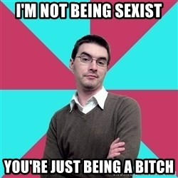 Privilege Denying Dude - i'm not being sexist you're just being a bitch