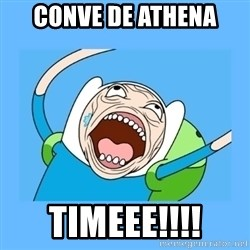 Finn from adventure time - conve de athena timeee!!!!