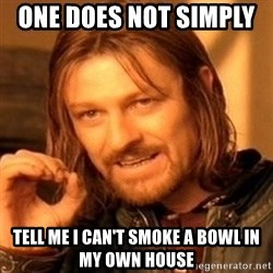 One Does Not Simply - one does not simply    tell me i can't smoke a bowl in my own house